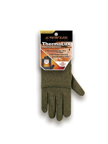 Seirus Innovation Thermalux Heat Pocket Glove Liner,Black/Gold,Large/X-Large (Lurex Glove Liners compare prices)
