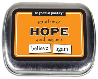 Magnetic Poetry - Little Box of Hope - Words for Refrigerator - Write Poems and Letters on the Fridge - 1