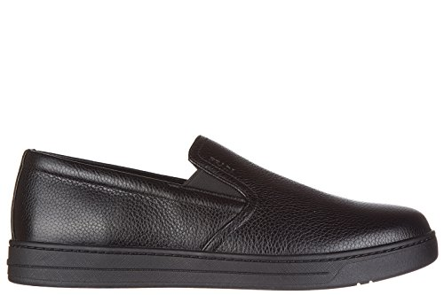 Prada slip on uomo in pelle sneakers nuove originali toro nero EU 43.5 4D2733_1OBC_F0002