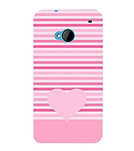 Love Heart Design 3D Hard Polycarbonate Designer Back Case Cover for HTC One M7 :: HTC M7