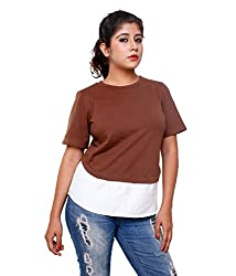 Tryfa Women's Top (Tryfa-134-XS_Brown_X-Small)