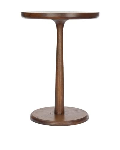 Safavieh Luke Round End Table, Brown