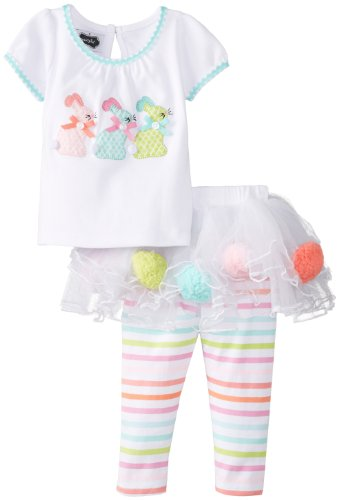 Mud Pie Baby-Girls Newborn Bunny Skirt Set, Multi, 0-6 Months