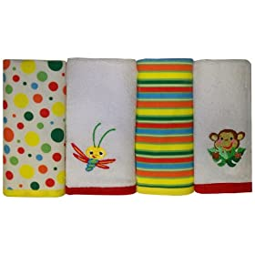 Fisher Price Rainforest Washcloth Set 4-Pack
