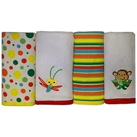 Fisher Price Rainforest Washcloth Set 4-Pack