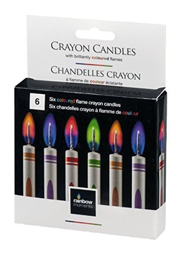 Rainbow Moments Crayon Candles - 6 CT