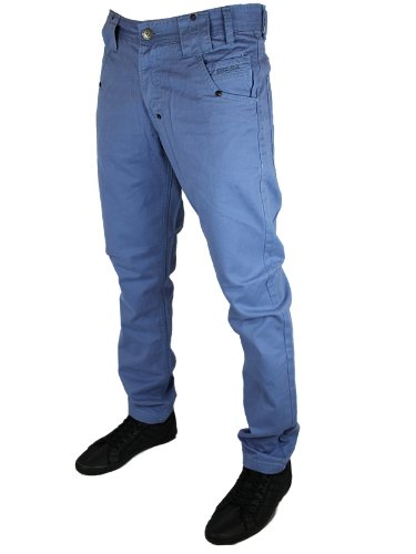 New Mens Blue Rawcraft Jeans C603544C Designer Slim Fit Chinos W30 L34