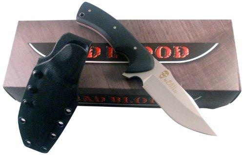 Bad Blood Partisan Nano Knife, G10 Handle, Plain, Sheath, Black