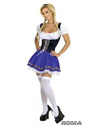 Serving Wench Costume by Roma UK 8-12