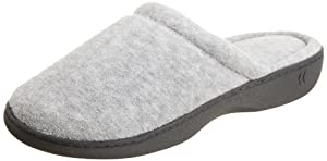 Isotoner Women's Terry Clog,Heather Gray,5.5/6