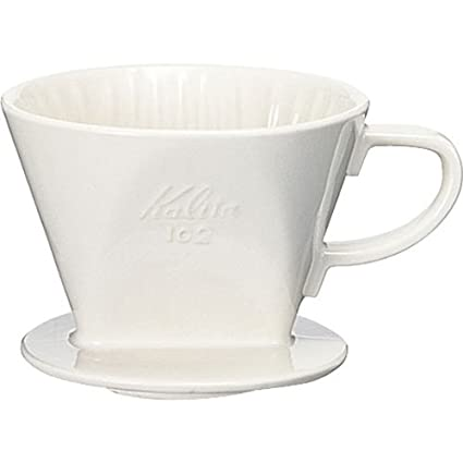 Ceramic coffee dripper Kalita 102 - White # 02 001 Lotto