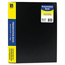 C Line Products Inc 33120 Black Bound Sheet Protector Presentation Book (Pack of 2)