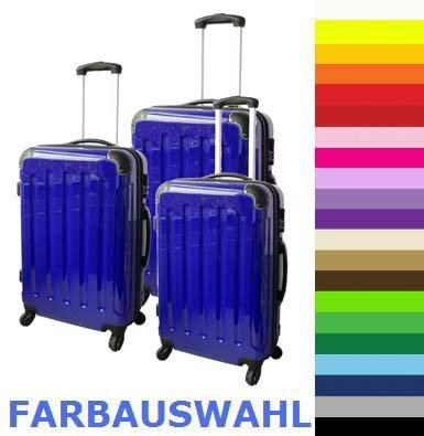 FINEO® Reisekoffer Trolley Koffer aus Polycarbonat