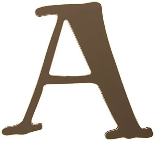 New Arrivals The Letter A, Chocolate Brown