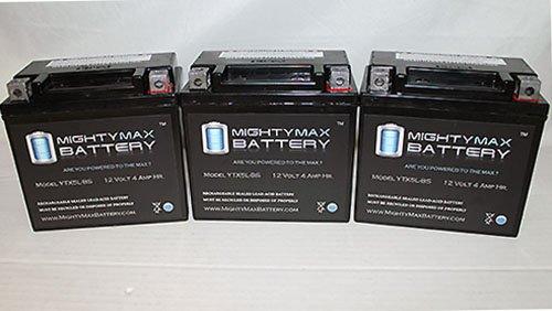 Ytx5L-Bs Replaces E-Ton Dxl90 Sierra Viper 70 Atv Battery - 3 Pack