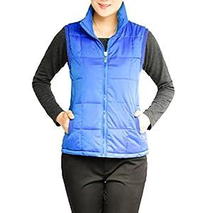 Hee Grand Femme Gilet Zipper Coton Chinois 3XL Saphir