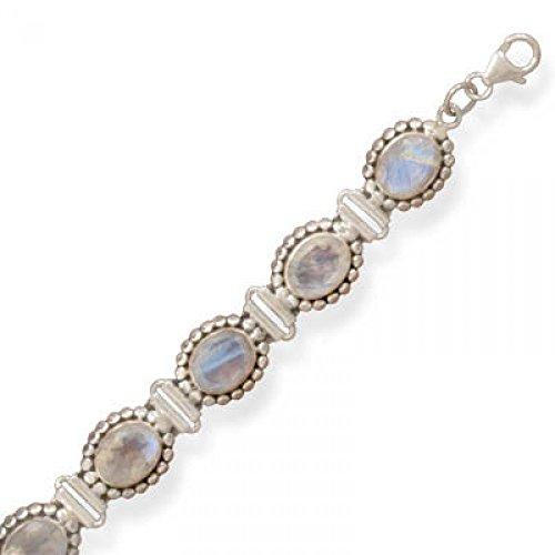 8 Inch Rainbow Moonstone Bracelet