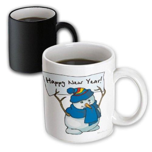 Happy New Year Snowman - Mugs