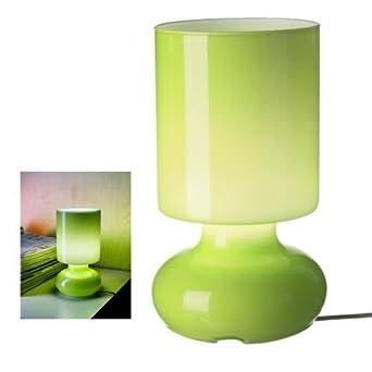 Ikea Green Lykta Glass Table Lamp, Retro Style     Amazon.com