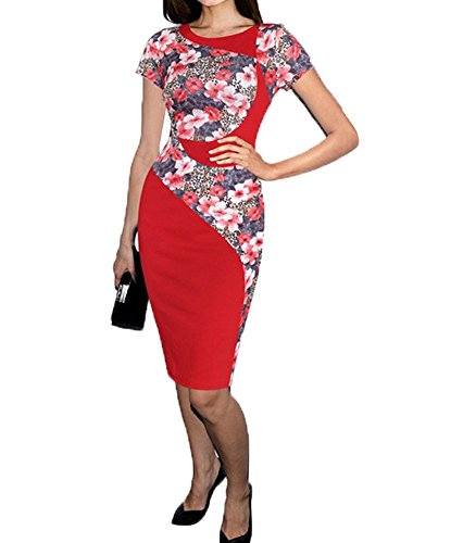 Colyanda-Womens-Elegant-Colorblock-Wear-to-Work-Business-Stretch-Pencil-Dress