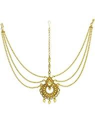 SatyamJewelleryNx Artificial Golden Matha Patti For Women Fashion Jewellery