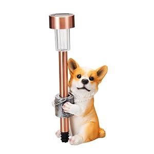 エイチツーオー 子犬付ソーラーライト コーギー H840