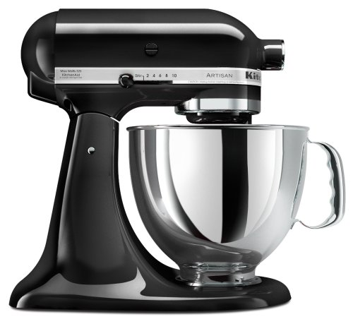 Best Review Of KitchenAid KSM150PSOB Artisan Series 5-Quart Mixer, Onyx Black