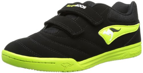 KangaROOS Boys Artus Velcro Velcro Shoes Black Schwarz (black/lime/white) Size: 3 (36 EU)