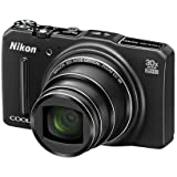 Nikon COOLPIX S9700 16.0 MP Wi-Fi Digital Camera with 30x Zoom NIKKOR Lens, GPS, and Full HD 1080p Video (Black) (Certified Refurbished)