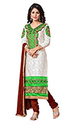 Senhora Creation Women's Embroidered Dress material