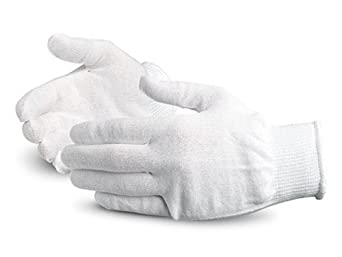 Superior S13TH Thermolite Fiber Winter Glove Liner, Work, 13 Gauge Thickness, Small, White (Pack of 1 Dozen)