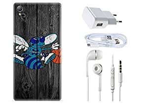 Spygen SONY XPERIA Z3 Case Combo of Premium Quality Designer Printed 3D Lightweight Slim Matte Finish Hard Case Back Cover + Charger Adapter + High Speed Data Cable + Premium Quality Handfree