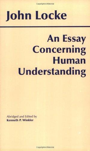 An Essay Concerning Human Understanding087220247X