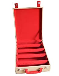 WHOLESOME DEAL women's red four rake bangle box (Free Size) (Red)