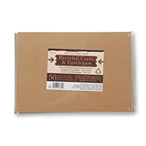 Darice® 5 x 7 Blank Cards & Envelopes - Value Pack - 50 Count - Natural