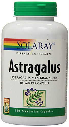 Solaray Astragalus Supplement, 400mg, 180 Count