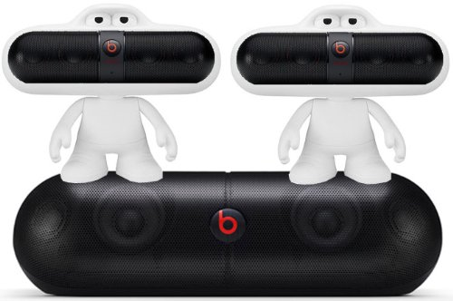 Beats By Dr. Dre Pill Xl Portable Speaker System Bundle With 2 Beats Pill Portable Speakers And 2 Beats Pill Character Stands (White)