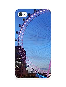 AMEZ designer printed 3d premium high quality back case cover for Apple iPhone 4s (giant wheel architecture)