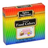 Spice Supreme Assorted Food Colors Red Blue Green Yellow 1.2 Oz