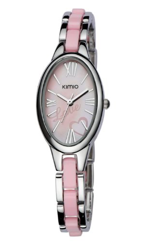 Ufingo-Classic Fashion Stylish Bestluxury Oval Dial Bracelet Wrist Watch For Women/Ladies/Girls-Pink