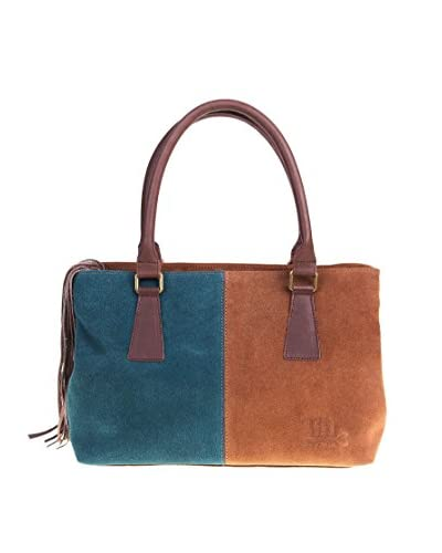 Titi Couture Borsa Bicolore City [Blu/Marrone]