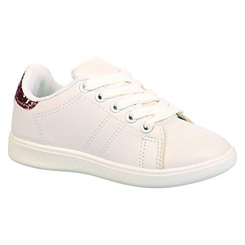 ByPublicDemand Lois Bambina Bambini scarpe da ginnastica Stringate - Bianco / Rosa 36