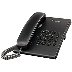 Panasonic KX-TS500B Integrated Corded Phone System, Black