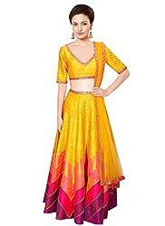 Rozdeal Designer Yellow Color leriya Style Navratri Collection Lehnega Choli