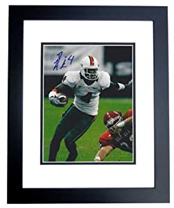 Devin Hester Autographed Hand Signed Miami Hurricanes 8x10 Photo - BLACK CUSTOM FRAME by Real+Deal+Memorabilia