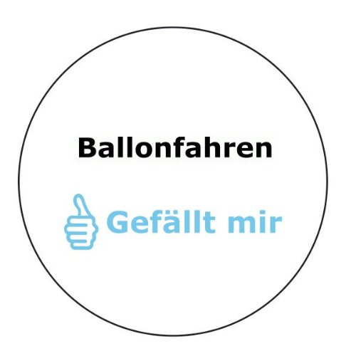 Ballonfahren gef&#228;llt mir Aufkleber - 10 cm Durchmesser