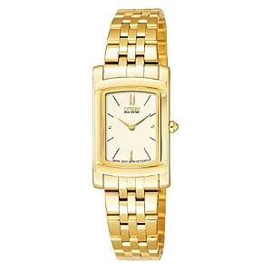 Citizen EG3133-51P - Reloj analógico de cuarzo para mujer con correa de acero inoxidable, color dorado
