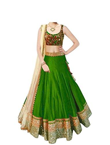 Kenil-Fabrics-Womens-Banglori-Silk-Lehenga-Choli-ken-90063GreenFree-Size