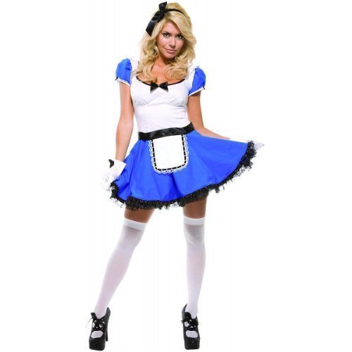 Alice In Wonderland Costume - Wonderland Sass by Forplay Turquoise L/XL
