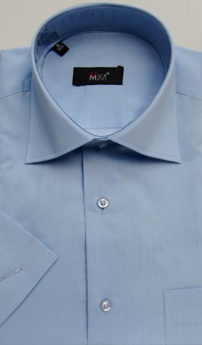 MUGA mens Shortsleeve shirts for Casual and Formal, Medium Blue, Size 5XL